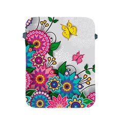 Flowers Pattern Vector Art Apple iPad 2/3/4 Protective Soft Cases