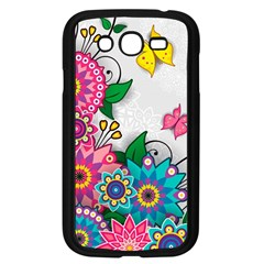 Flowers Pattern Vector Art Samsung Galaxy Grand DUOS I9082 Case (Black)