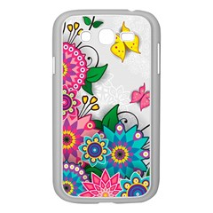 Flowers Pattern Vector Art Samsung Galaxy Grand DUOS I9082 Case (White)
