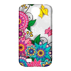Flowers Pattern Vector Art Samsung Galaxy S4 Classic Hardshell Case (PC+Silicone)