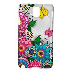 Flowers Pattern Vector Art Samsung Galaxy Note 3 N9005 Hardshell Case