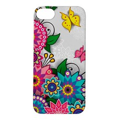 Flowers Pattern Vector Art Apple Iphone 5s/ Se Hardshell Case