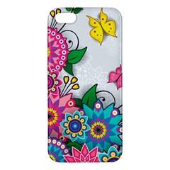 Flowers Pattern Vector Art iPhone 5S/ SE Premium Hardshell Case
