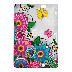 Flowers Pattern Vector Art Kindle Fire Hdx 8 9  Hardshell Case