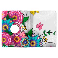 Flowers Pattern Vector Art Kindle Fire HDX Flip 360 Case
