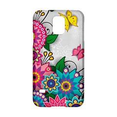 Flowers Pattern Vector Art Samsung Galaxy S5 Hardshell Case