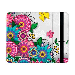 Flowers Pattern Vector Art Samsung Galaxy Tab Pro 8 4  Flip Case
