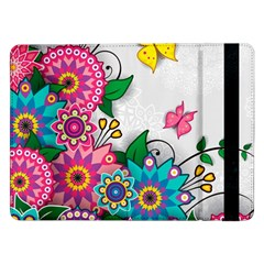 Flowers Pattern Vector Art Samsung Galaxy Tab Pro 12 2  Flip Case