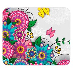 Flowers Pattern Vector Art Double Sided Flano Blanket (small)