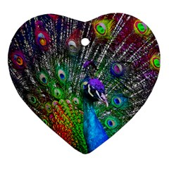 3d Peacock Pattern Ornament (Heart)