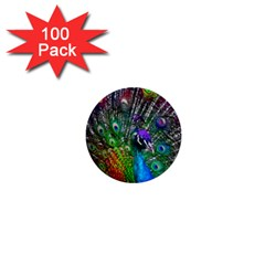 3d Peacock Pattern 1  Mini Buttons (100 Pack)