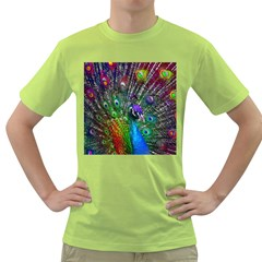 3d Peacock Pattern Green T Shirt