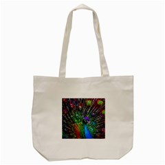 3d Peacock Pattern Tote Bag (cream)
