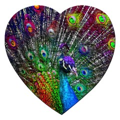 3d Peacock Pattern Jigsaw Puzzle (Heart)