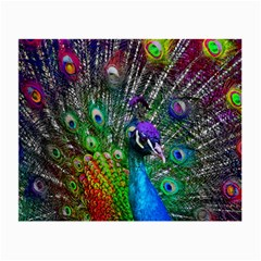 3d Peacock Pattern Small Glasses Cloth