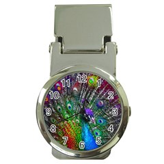 3d Peacock Pattern Money Clip Watches