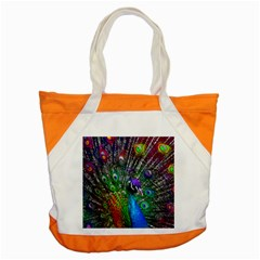 3d Peacock Pattern Accent Tote Bag