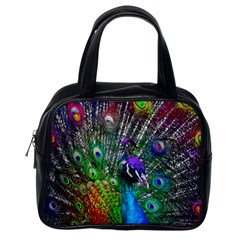 3d Peacock Pattern Classic Handbags (one Side)
