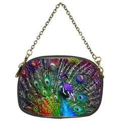 3d Peacock Pattern Chain Purses (one Side)