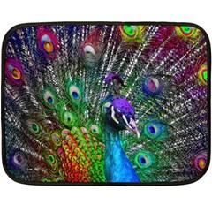 3d Peacock Pattern Fleece Blanket (Mini)