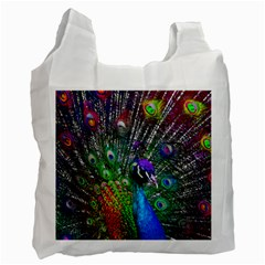 3d Peacock Pattern Recycle Bag (one Side)