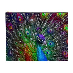 3d Peacock Pattern Cosmetic Bag (xl)
