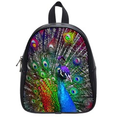 3d Peacock Pattern School Bags (small)
