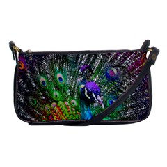 3d Peacock Pattern Shoulder Clutch Bags