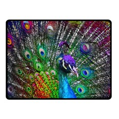 3d Peacock Pattern Fleece Blanket (Small)