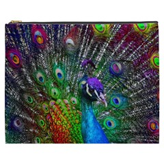 3d Peacock Pattern Cosmetic Bag (xxxl)