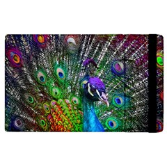 3d Peacock Pattern Apple Ipad 3/4 Flip Case