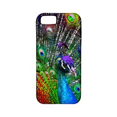 3d Peacock Pattern Apple Iphone 5 Classic Hardshell Case (pc+silicone)