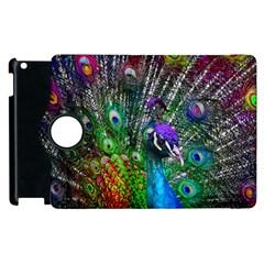 3d Peacock Pattern Apple iPad 3/4 Flip 360 Case