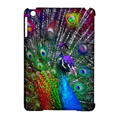 3d Peacock Pattern Apple iPad Mini Hardshell Case (Compatible with Smart Cover)