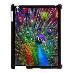 3d Peacock Pattern Apple Ipad 3/4 Case (black)