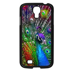 3d Peacock Pattern Samsung Galaxy S4 I9500/ I9505 Case (Black)