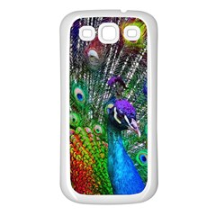 3d Peacock Pattern Samsung Galaxy S3 Back Case (white)