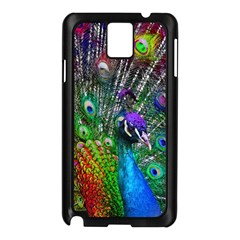 3d Peacock Pattern Samsung Galaxy Note 3 N9005 Case (Black)