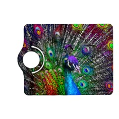 3d Peacock Pattern Kindle Fire Hd (2013) Flip 360 Case