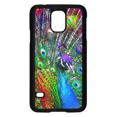 3d Peacock Pattern Samsung Galaxy S5 Case (Black)