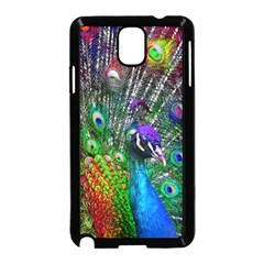 3d Peacock Pattern Samsung Galaxy Note 3 Neo Hardshell Case (Black)
