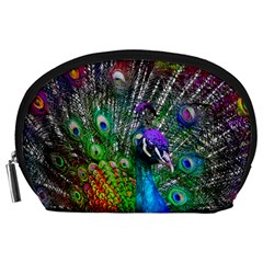 3d Peacock Pattern Accessory Pouches (large)