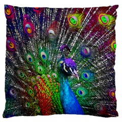 3d Peacock Pattern Standard Flano Cushion Case (One Side)