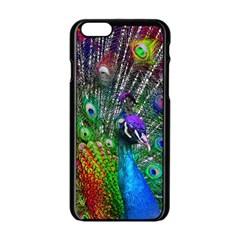 3d Peacock Pattern Apple iPhone 6/6S Black Enamel Case