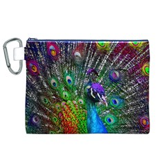 3d Peacock Pattern Canvas Cosmetic Bag (xl)