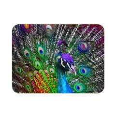 3d Peacock Pattern Double Sided Flano Blanket (mini)