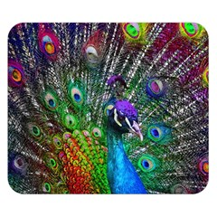3d Peacock Pattern Double Sided Flano Blanket (small)