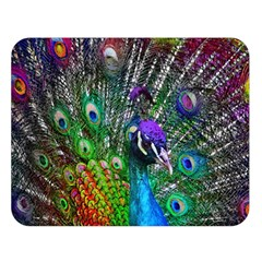 3d Peacock Pattern Double Sided Flano Blanket (large)