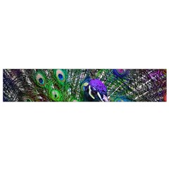 3d Peacock Pattern Flano Scarf (Small)