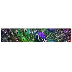 3d Peacock Pattern Flano Scarf (Large)